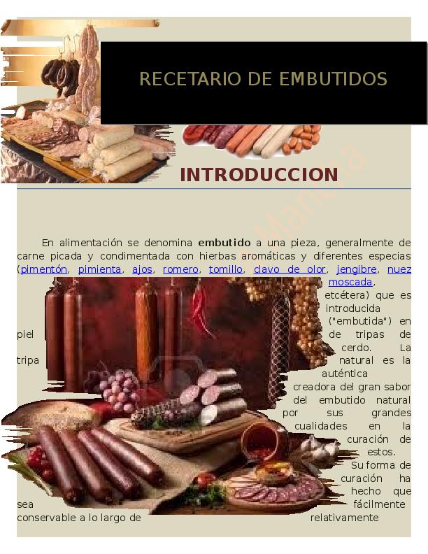 Doc Recetario De Embutidos 2 Da Edicion Carlos Marquez Academia Edu