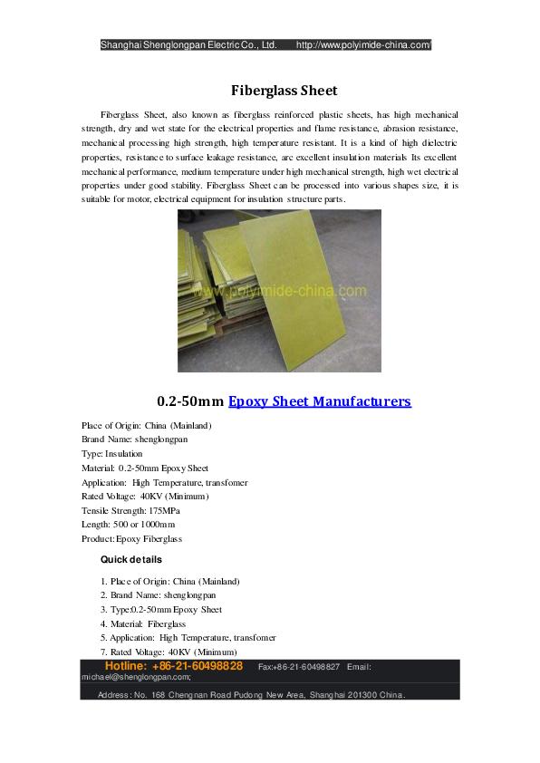 0 2-50mm Epoxy Sheet Manufacturers - China Epoxy Sheet