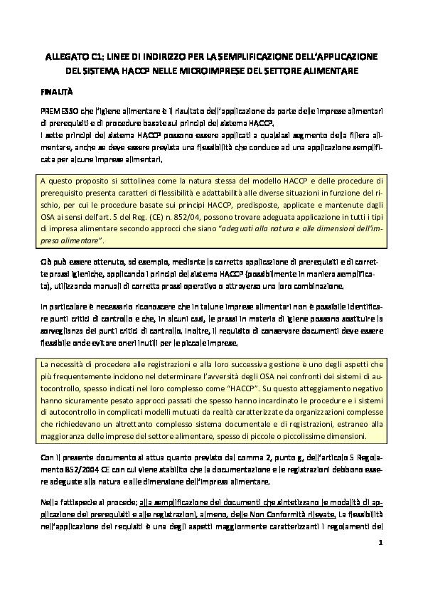 HACCP semplificato con annotazioni  d1cfac8e926