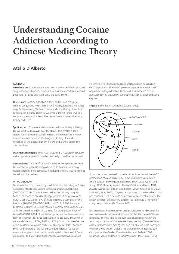 PDF) Understanding Cocaine Addiction According to Chinese Medicine