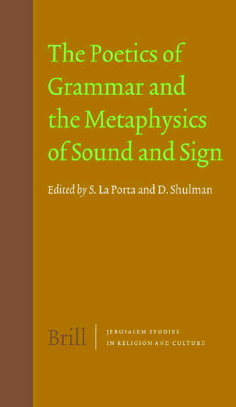 PDF) Poetics of Grammar and the Metaphysics of Sound and