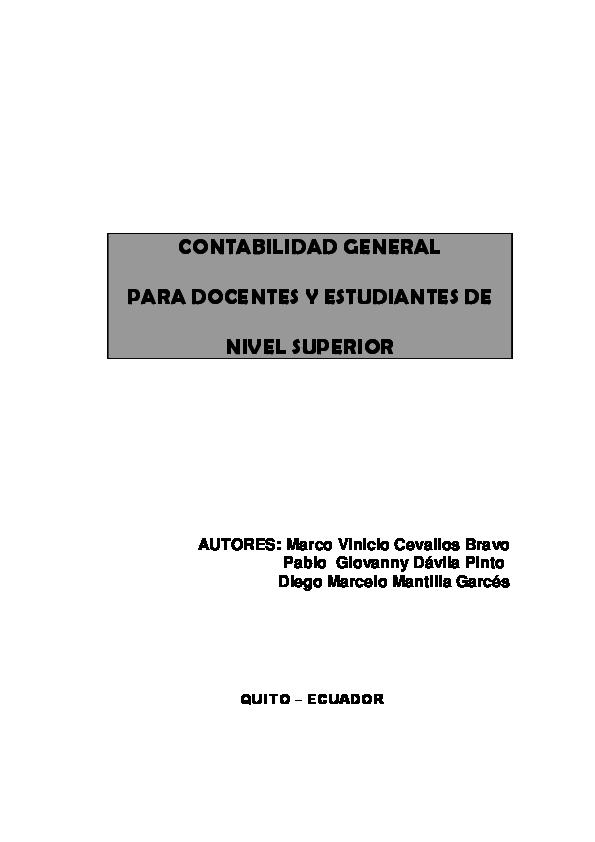 Pdf Contabilidad General Para Docentes Y Estudiantes De