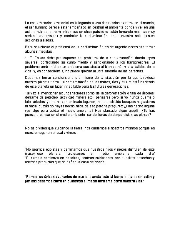 Doc Discurso De La Contaminacion Brigith Diaz Academia Edu