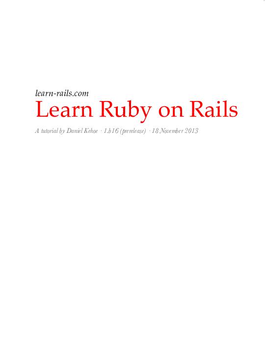 PDF) Ruby on Rails | Simona Buta - Academia edu