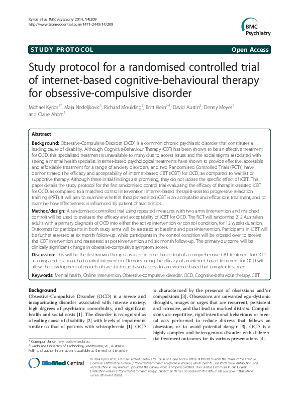 PDF) Study protocol for a randomised controlled trial of