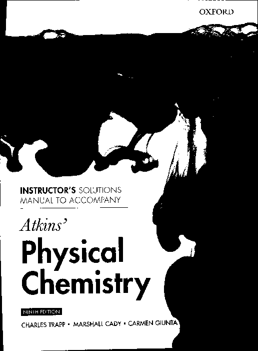 Atkins Physical Chemistry 10th Edition Solution Manual Pdf