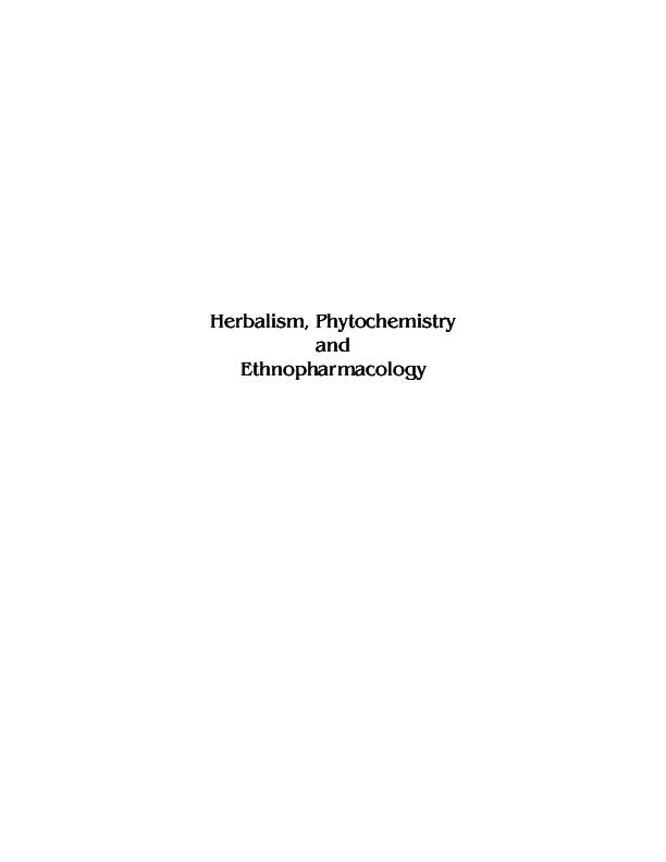 PDF) Herbalism, Phytochemistry and Ethnopharmacology   Serly Zumeri