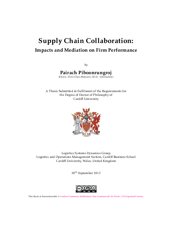 PDF) Supply chain collaboration: impacts and mediation on