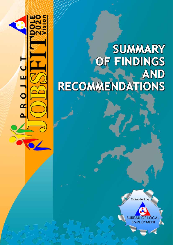 PDF) Project Jobs Fit DOLE 2020 Vision: Summary of Findings