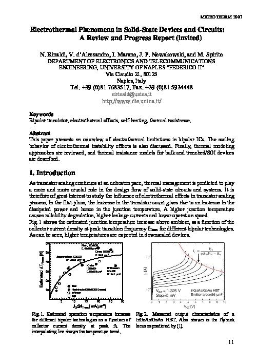 Electrothermal Effect