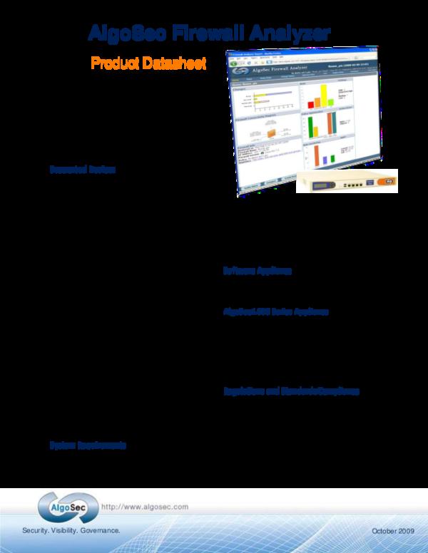 PDF) Algo Sec Firewall Analyzer Datasheet | long nguyen - Academia edu