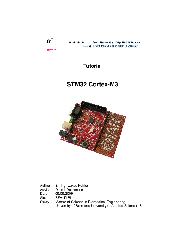 PDF) STM32 - Cortex M3 | last mechanic - Academia edu