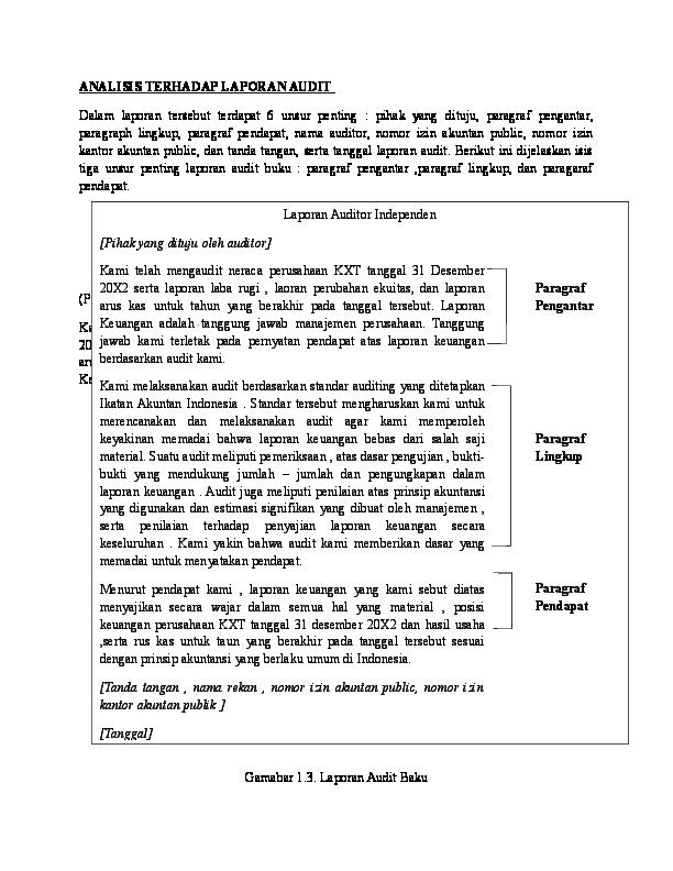 Doc Analisis Terhadap Laporan Audit Ayu Aswin Academia Edu