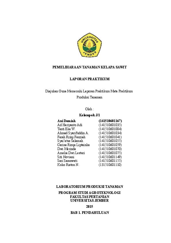 Doc Pemeliharaan Sawit Ani Domiah Academia Edu