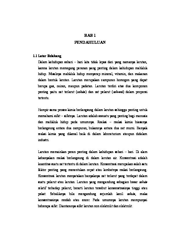 Doc Laporan Praktikum Kimia Dasar Modul 3 Pembuatan Larutan Teknik Sipil Unmul 2014 Academia Edu
