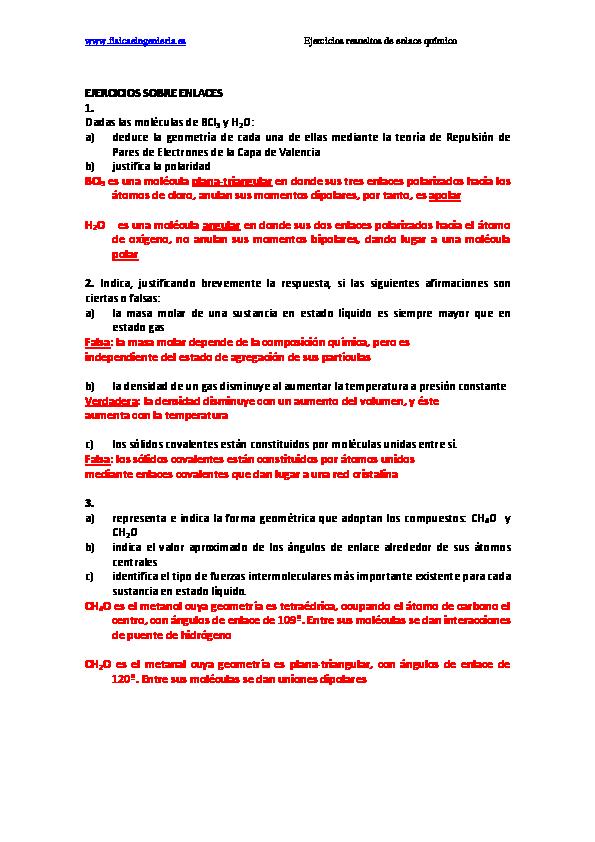 Pdf Ejercicios Resueltos Enlace Sergio Peña Academia Edu