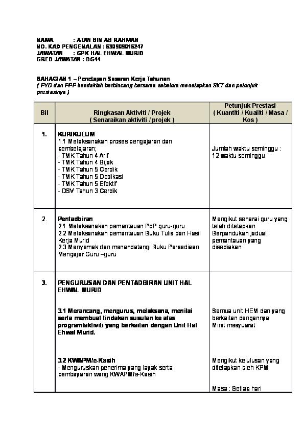 Format Laporan Tahunan Unit Hem