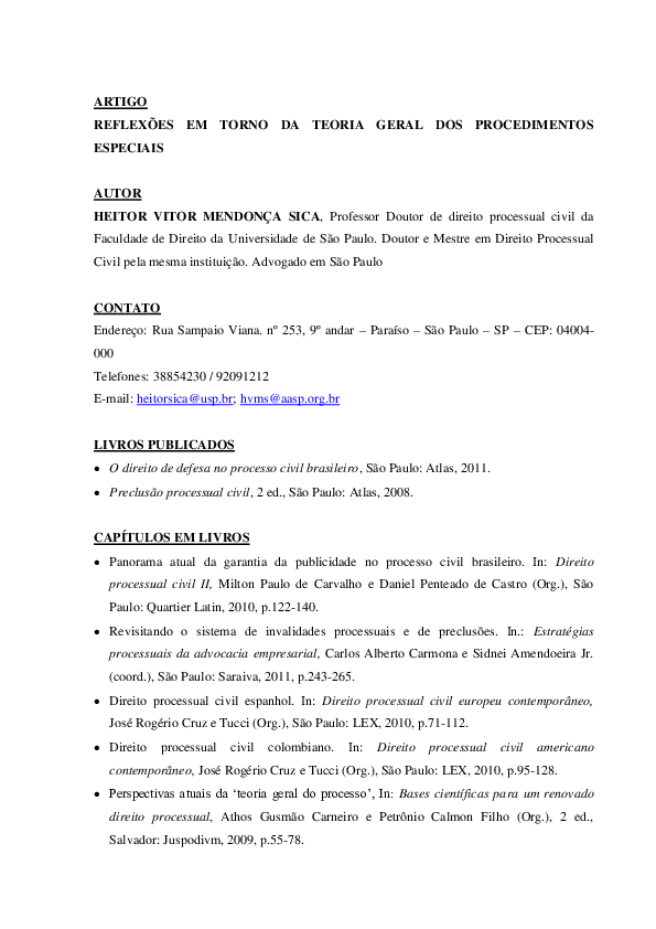 ESPECIAIS MARCATO BAIXAR CARLOS ANTONIO PROCEDIMENTOS