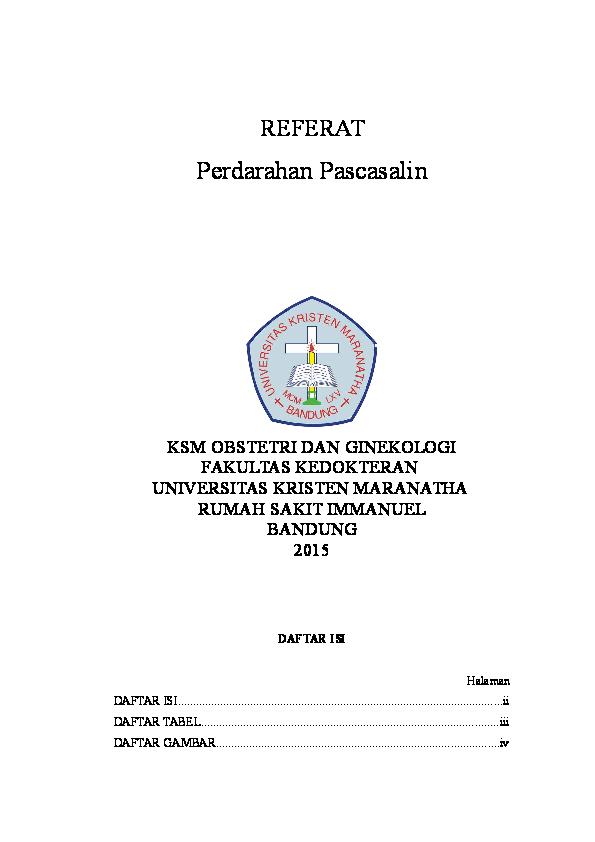 DOC) REFERAT perdarahan post partum   Brigitta Wirahadi