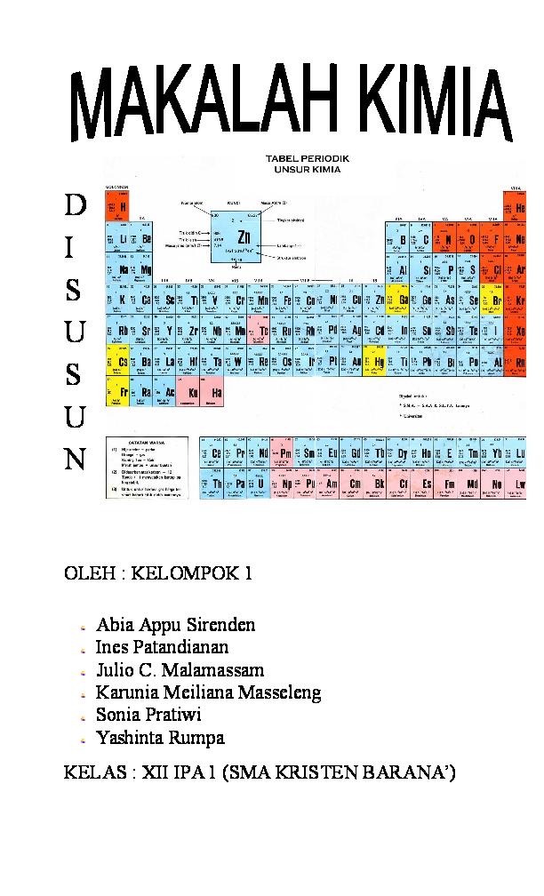 Doc Makalah Kimia Unsur Yashinta Rumpa Academia Edu