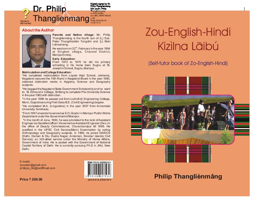 PDF) Zo-English-Hindi Kizilna Làibu(Selftutor book of Zo