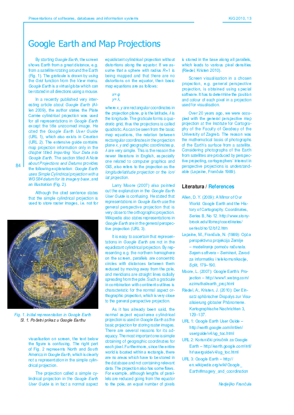 PDF) Google Earth and Map Projections | Nedjeljko Frančula ... on earth rotation, earth history, earth changes map, earth map lights, earth map background, earth map animation, earth world map, earth map painting, earth map night, earth seasons, earth political map, earth map symbols, earth map scale, earth map drawings, earth map modeling, earth map tattoo, earth grids, earth remote sensing, earth longitude, lambert vs mercator projections,