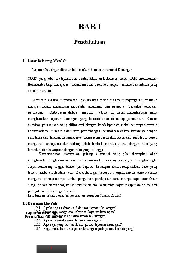 Doc Makalah Laporan Keuangan Perusahaan Dagang Eddy Sastrawan Academia Edu