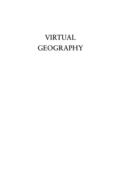 PDF) Virtual Geography: Living With Global Media Events