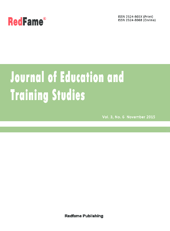 385ffee7449 Journal of Education and Training Studies, Vol. 3, No. 6, November ...