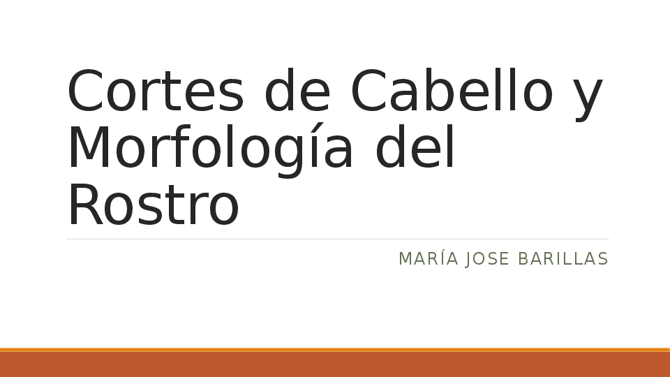Ppt Cortes De Cabello Y Morfologia Del Rostro Mariajo De