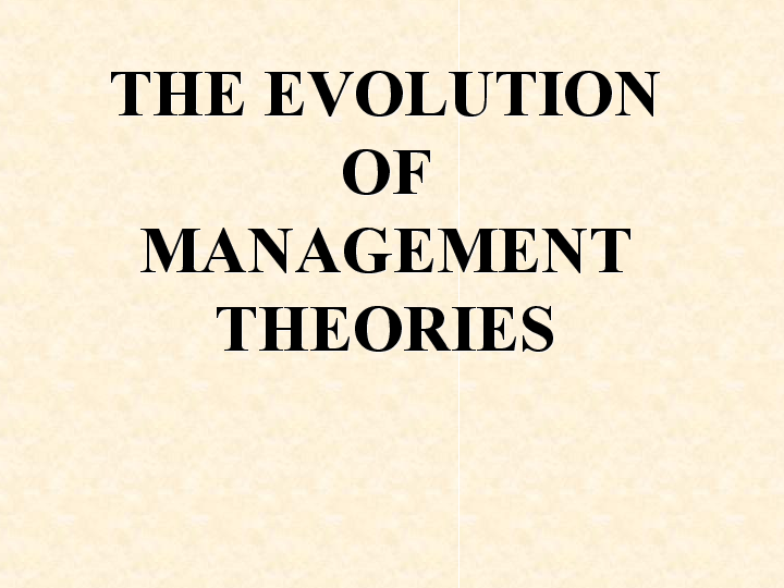 classical management theory pdf