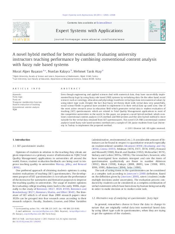 PDF) A novel hybrid method for better evaluation: Evaluating