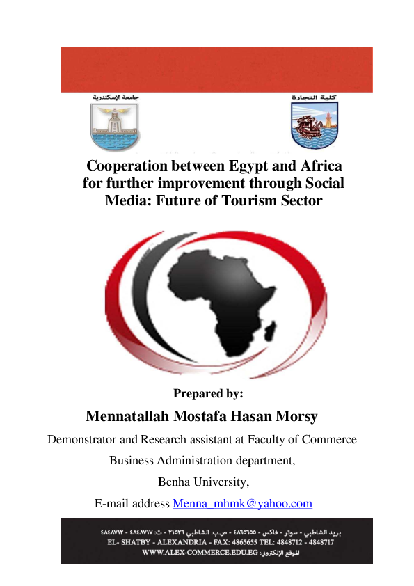 Pdf Cooperation Between Egypt And Africa For Further Improvement Through Social Media Future Of Tourism Sector Mennatallah Morsy Academia Edu