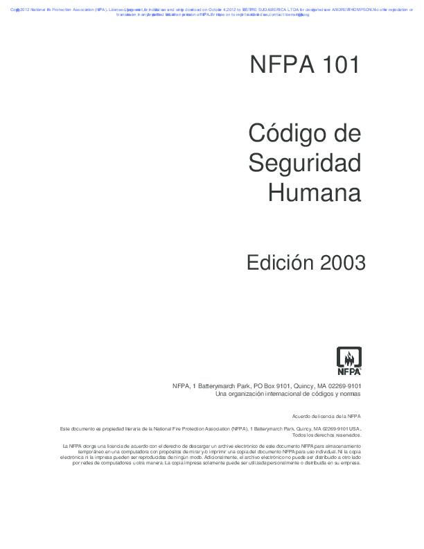 e02f7c452 PDF) NFPA101 2003 Codigo de Seguridad Humana