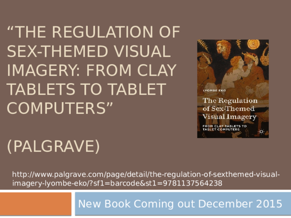 PPT) The Regulation of Sex-Themed Visual Imagery: From Clay