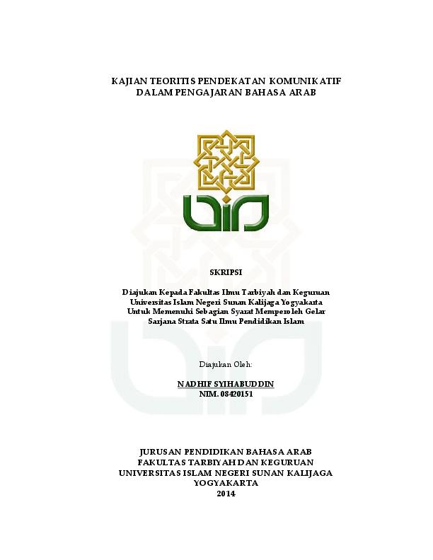 Contoh Tesis Bahasa Arab Pdf Contoh Soal Dan Materi Pelajaran 7