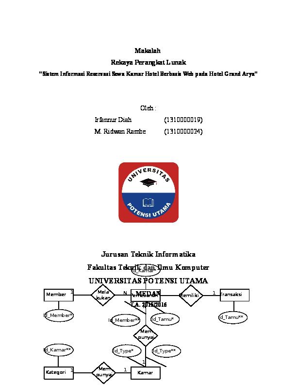 Doc Perancangan Sistem Informasi Reservasi Sewa Kamar Hotel