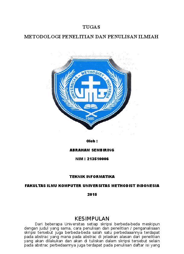 Doc Skripsi Bab 1 Abraham Sembiring Academia Edu