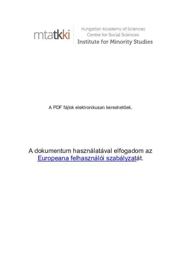 Nemzetfogalmak és etnopolitikai modellek Kelet-Közép-Európában