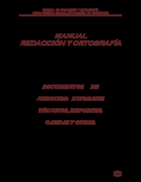 Pdf Manual De Redacción Y Ortografía Licda Morena