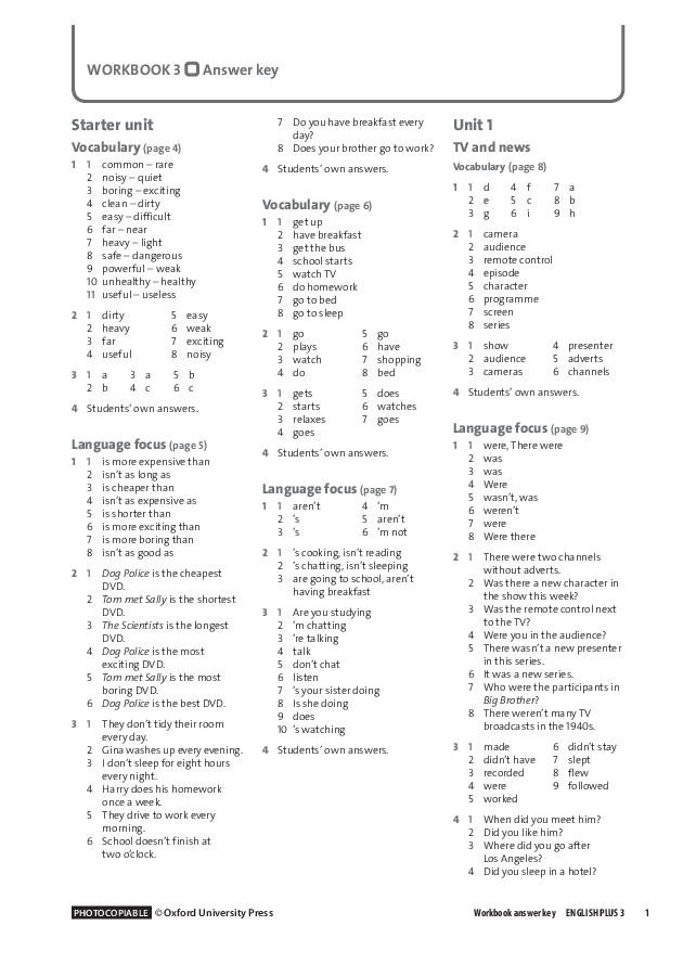 PDF) Hardygould janet english plus 3 workbook answer key | Vika Olas