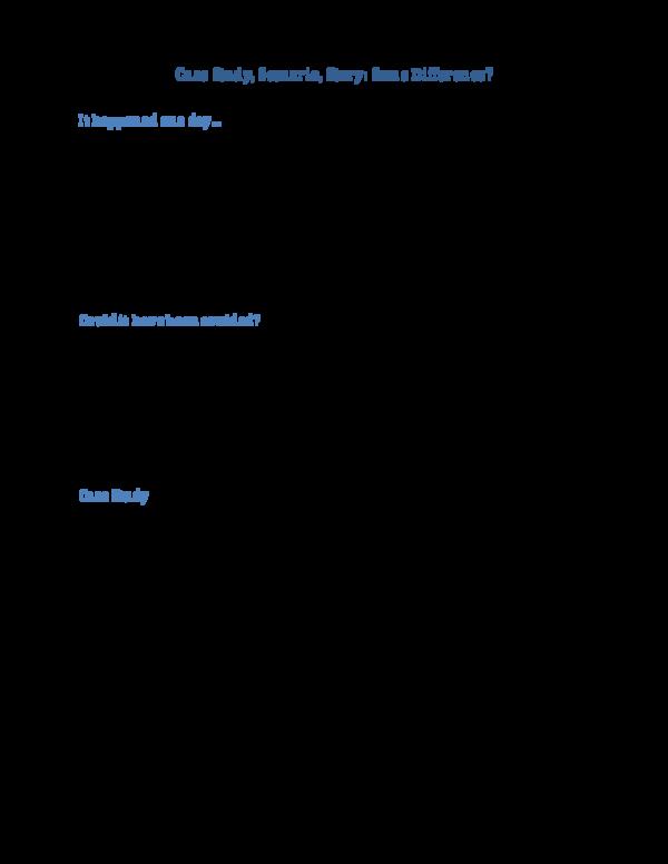 PDF) Case Study Story Scenario Same Difference | purnima