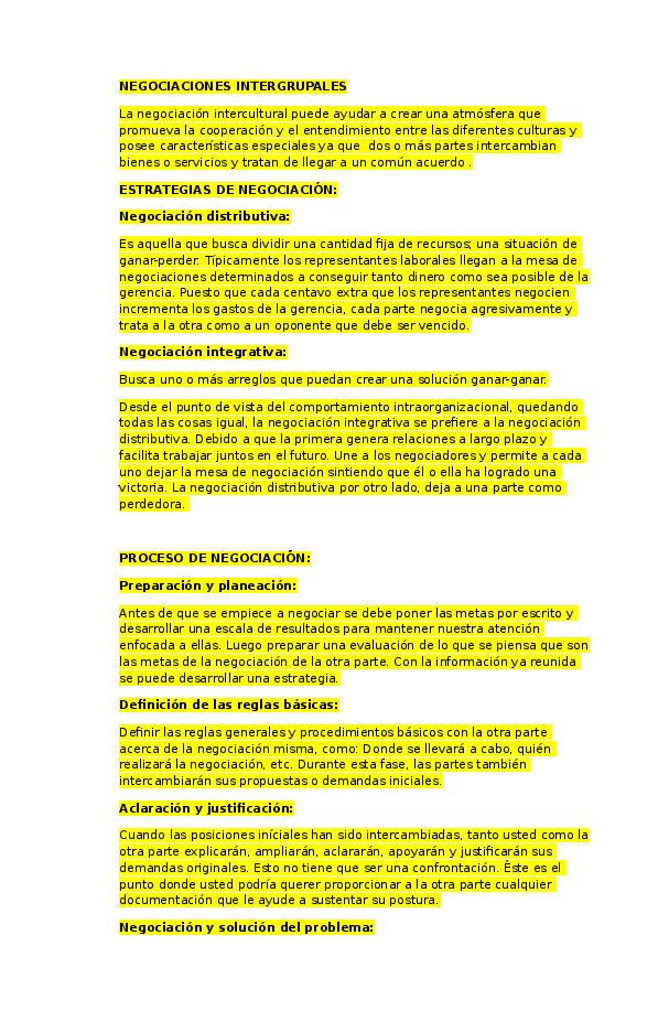 Doc Negociaciones Intergrupales Elizabeth Alvarez Academia Edu