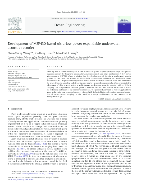 PDF) Development of MSP430-based ultra-low power expandable