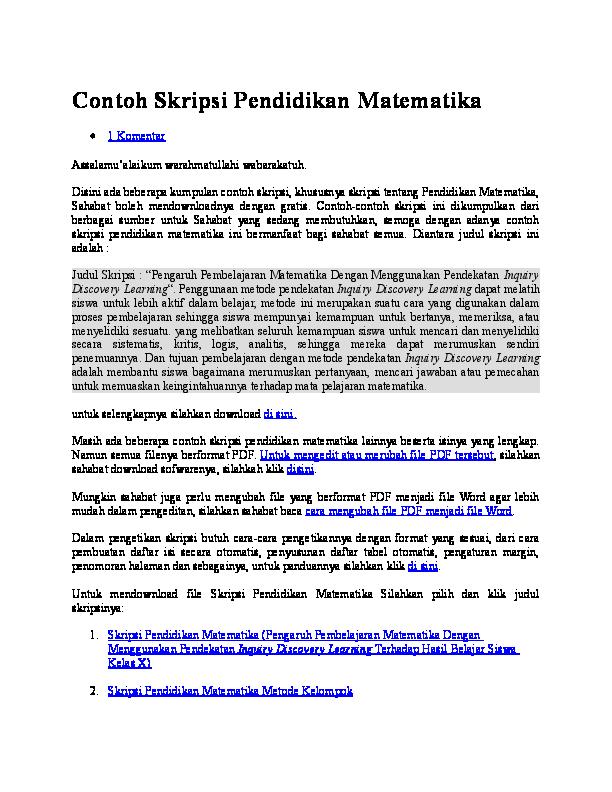 Doc Contoh Skripsi Pendidikan Ranti Purnamasari Academia Edu