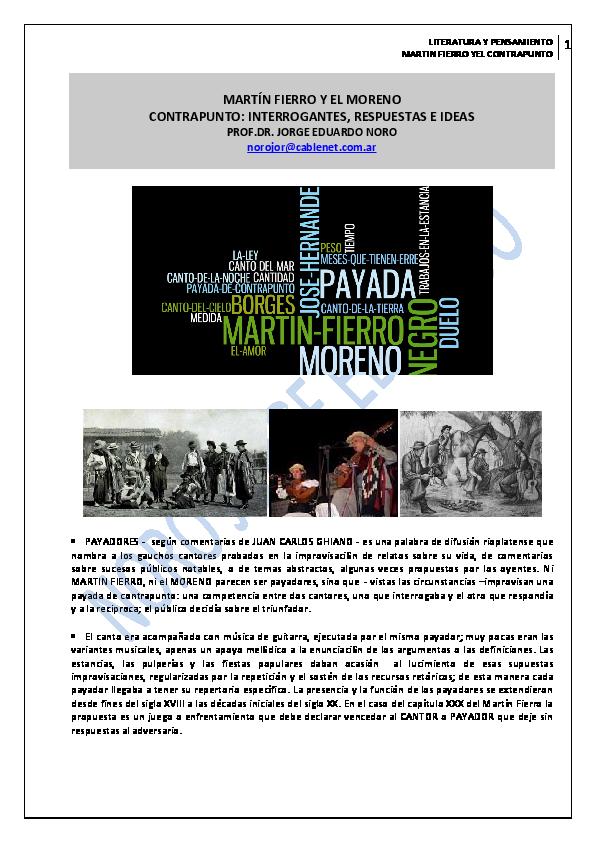 Pdf 83 Martin Fierro Y El Moreno Contrapunto Duelo E Ideas Jorge Eduardo Noro Academia Edu