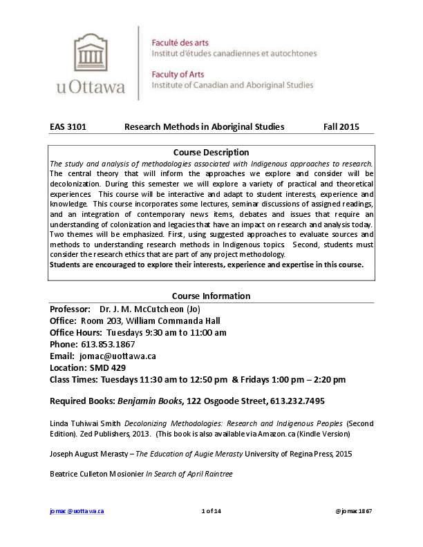 annotated bibliography uottawa