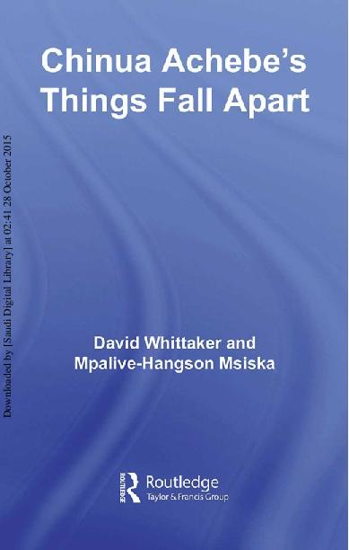 Things Fall Apart Ali Takana Academia Edu