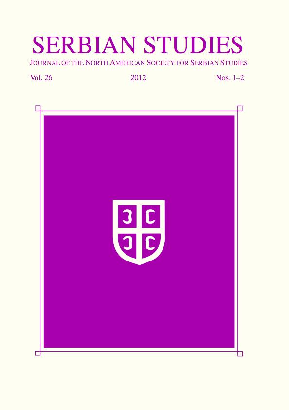 Pdf Serbian Studiesvol261 22012 2015 Full Issue Pdf
