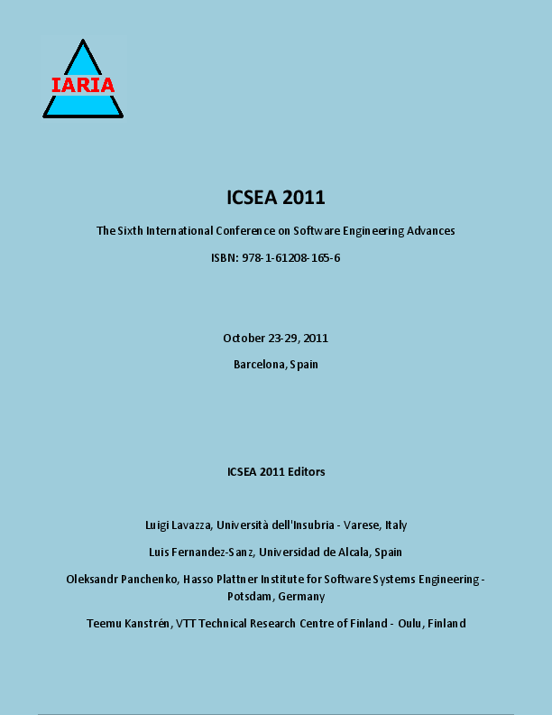 ICSEA 2011-The Sixth International Conference on Software